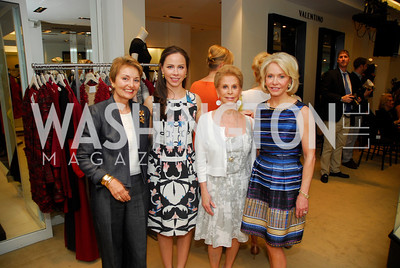Toni Gore, Barbara Bush, Wilma Bernstein, Mary Ourisman, A Presentation of Fall 2012 Oscar de la Renta Benefiting Global Health Corps at Saks Jandel, May 4, 2012, Kyle Samperton