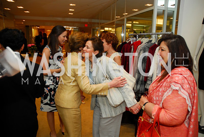 Laura Bush, Anita McBride, Shaista Mamoud, A Presentation of Fall 2012 Oscar de la Renta Benefiting Global Health Corps at Saks Jandel, May 4, 2012, Kyle Samperton