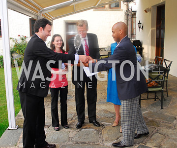 Babar Ahmed,Rebecca Bloom,Amb .Jonas Hofstrom,,Darrell Rico Doss,,June 12,2012,Reception for Arts for the Aging at the Residence of The Swedish Ambassador,Kyle Samperton