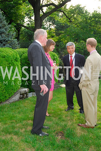 Alan Hermesch,Susanna Michelsen,Kuni Matsuda,Bill Weber,June 12,2012,Reception for Arts for the Aging at the Residence of The Swedish Ambassador,Kyle Samperton