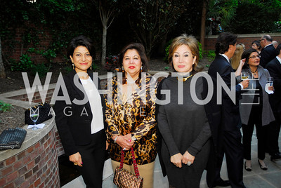 Shamin Jawad, Shaista Mamood,Maha Kodouri,A Reception for Vali Nasr,April 19,2012,Kyle Samperton