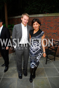 Ronan Farrow,Rina Amiri,A Reception for Vali Nasr,April 19,2012,Kyle Samperton