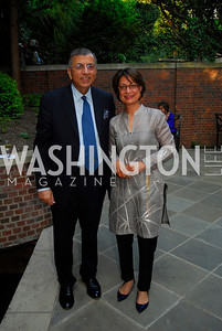 Shuja Nawaz,Seema Nawaz,A Reception for Vali Nasr,April 19,2012,Kyle Samperton