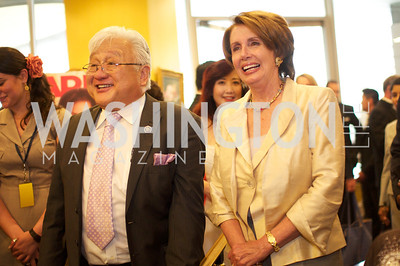 Congressman Mike Honda and Minority Leader Nancy Pelosi. Asian Pacific American Institute for Congressional Studies (APAICS) .  This 18th Annual Gala Awards was the largest yet, thanks in part to the White House Initiative on Asian Americans and Pacific Islanders.  President Obama spoke.  Photo by Ben Droz.