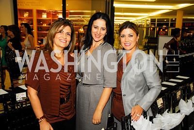 Nadia Haddad,Pauline Habr,Sophia Haddad,September 28,2012,All  Acess Fashion  VIP  Runway Show presented by  Intermix andTysons Galleria,Kyle Samperton