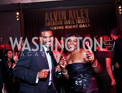 Calvin Rice, Johnine Barnes. Alvin Ailey Gala. February 7, 2012. Photo by Tony Powell