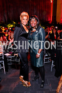 Aisha Davis, Congresswoman Terri Sewell. Alvin Ailey Gala. February 7, 2012. Photo by Tony Powell