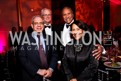 District of Columbia Attorney General Irvin Nathan, Ken Cole, Togo and Gail West. Alvin Ailey Gala. February 7, 2012. Photo by Tony Powell