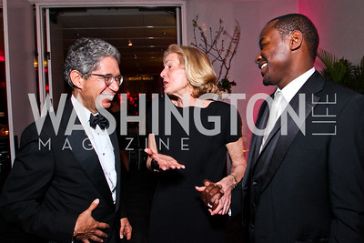 Ailey Board President Henry McGee, Carolyn Brody, Ailey Artistic Director Robert Battle. Alvin Ailey Gala. February 7, 2012. Photo by Tony Powell