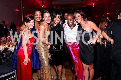 Carrie Kohns, Chinyere Hubbard, April Richmond, Charlotte Reid, Ailey dancer Hope Boykin, Kathy Hollinger. Alvin Ailey Gala. February 7, 2012. Photo by Tony Powell