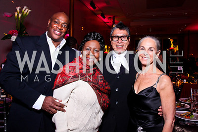 Marc Manigault, Congresswoman Sheila Jackson Lee, Masazumi Chaya, Sharon Gersten Luckman. Alvin Ailey Gala. February 7, 2012. Photo by Tony Powell