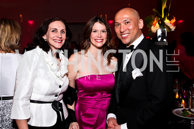 Karen Anderson, Bianca Grimaldi, John Timpe. Alvin Ailey Gala. February 7, 2012. Photo by Tony Powell