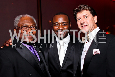 Congressman James Clyburn, Ailey Artistic Director Robert Battle, Gala Co-Chair Lyndon Boozer. Alvin Ailey Gala. February 7, 2012. Photo by Tony Powell