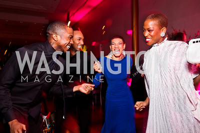 Ailey dancers Michael Jackson Jr., Sean Carmon, Ghrai DeVore, Akua Noni Parker. Alvin Ailey Gala. February 7, 2012. Photo by Tony Powell