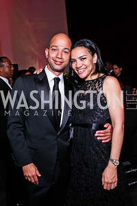 BET President and COO Scott Mills and wife Iva Mills. Alvin Ailey Gala. February 7, 2012. Photo by Tony Powell