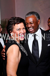 Gala Co-Chair Debra Lee, Art Collins. Alvin Ailey Gala. February 7, 2012. Photo by Tony Powell