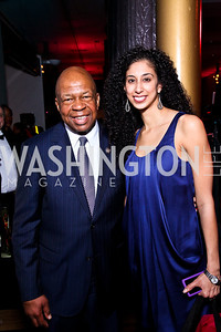 Congressman Elijah Cummings, Ailey dancer Alicia Graf Mack. Alvin Ailey Gala. February 7, 2012. Photo by Tony Powell