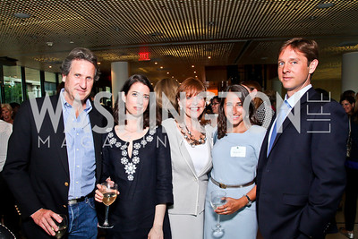 David Cluett, Margaux Bergen, Susan Davis, Rachel Pohl, Hardin Lang. Alyse Nelson Vital Voices Book Party. Photo by Tony Powell. House of Sweden. June 5, 2012