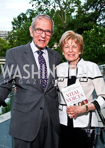 Sidney Werkman and Bitsey Folger. Alyse Nelson Vital Voices Book Party. Photo by Tony Powell. House of Sweden. June 5, 2012