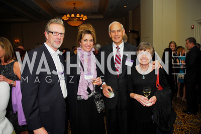 Todd Palmer,Jennifer Palmer,Ross Swimmer,Margaret Swimmer,April 24,2012,Alzheimers Association National Dinner,Kyle Samperton