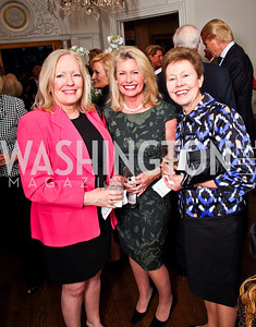 Martha Dippell, Charlotte Buxton, Chris Leahy. Bonnie McElveen Hunter Reception for the NMWA. Photo by Tony Powell. Aprl 26, 2012