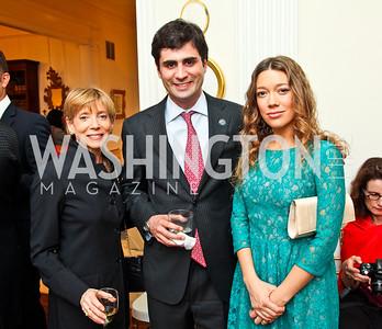 Ilene Gutman, Nicolas BAr, Maria Larrain. Bonnie McElveen Hunter Reception for the NMWA. Photo by Tony Powell. Aprl 26, 2012