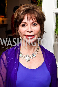 Isabel Allende. Bonnie McElveen Hunter Reception for the NMWA. Photo by Tony Powell. Aprl 26, 2012