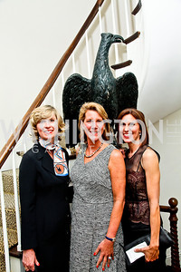 Barbara Richter, Ellen Mavec, Cheryl Tague. Bonnie McElveen Hunter Reception for the NMWA. Photo by Tony Powell. Aprl 26, 2012