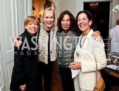 Ilene Gutman, Sunny Alsup, Nadiya, Sue Ann Berlin. Bonnie McElveen Hunter Reception for the NMWA. Photo by Tony Powell. Aprl 26, 2012