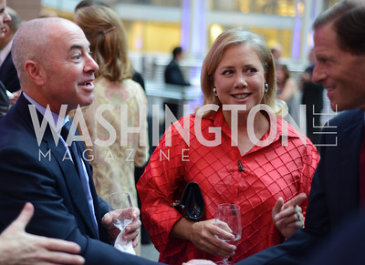 Alejandro Mayorkas, Senator Mary Landrieu and Senator Richard Blumenthal , The Congressional Coalition on Adoption Institute hosts the annual Angels in Adoption Gala at the Ronald Reagan Building. Photo by Ben Droz.