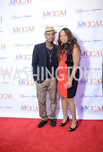 Ne-Yo and Khalilah Abdul-Baqi.  The Congressional Coalition on Adoption Institute hosts the annual Angels in Adoption Gala at the Ronald Reagan Building. Photo by Ben Droz.