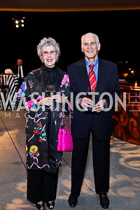 "Sue and Amnon Golan. Photo by Tony Powell. Opening Night of ""My Fair Lady."" Arena Stage. November 15, 2012"