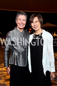 "Susan Clampitt, Joan Shigekawa. Photo by Tony Powell. Opening Night of ""My Fair Lady."" Arena Stage. November 15, 2012"