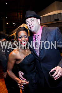 "Sade Simmons, Aaron Wright. Photo by Tony Powell. Opening Night of ""My Fair Lady."" Arena Stage. November 15, 2012"