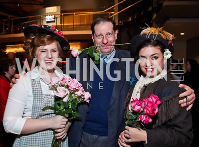 "Alina Stone, Robert Aubry Davis, Arianna Kruszewski. Photo by Tony Powell. Opening Night of ""My Fair Lady."" Arena Stage. November 15, 2012"