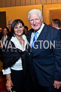 "Luann Bennett, Rep. Jim Moran. Photo by Tony Powell. Opening Night of ""My Fair Lady."" Arena Stage. November 15, 2012"