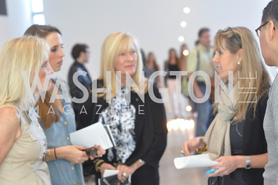 Laurie Monahan, Holly Hunt, Lynn Buniconti, Isabel Ernst,  Art Basel, Miami, de la Cruz Collection, Photo by Ben Droz.