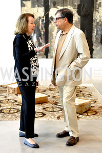 Rosa de la Cruz, Bob Colacello, Art Basel, Miami, de la Cruz Collection, Photo by Ben Droz.