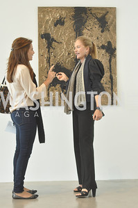 Luma Kawar, Carol Guest,   Art Basel, Miami, de la Cruz Collection, Photo by Ben Droz.