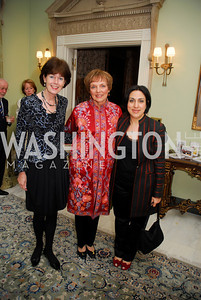 Ambassador Renee Jones-Bos.Mary Jo Myers,Sultana Hakimi,,February 24,2012,Aschiana Gala at the Residence of the Ambassador of the Netherlands,Kyle Samperton
