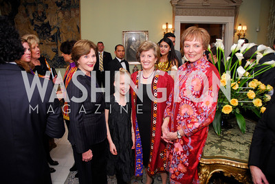 Laura Bush,,Patricia Silberman,Mary Jo Myers,February 24,2012,Aschiana Gala at the Residence of the Ambassador of the Netherlands,Kyle Samperton