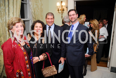 Patricia Silberman,Shaista Mahmood,Dale Mott,Ken Hyle,,February 24,2012,Aschiana Gala at the Residence of the Ambassador of the Netherlands,Kyle Samperton