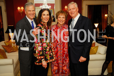 Ed Powell,Diane Powell,Mary Jo Myers,Richard Myers, February 24,2012,Aschiana Gala at the Residence of the Ambassador of the Netherlands,Kyle Samperton