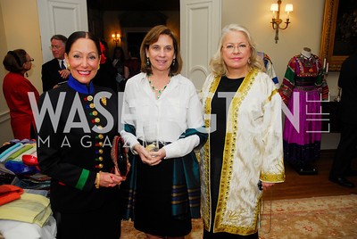 Barbara  Wilson,Annie McChrystal,Margaret Rogers,February 24,2012,Aschiana Gala at the Residence of the Ambassador of the Netherlands,Kyle Samperton