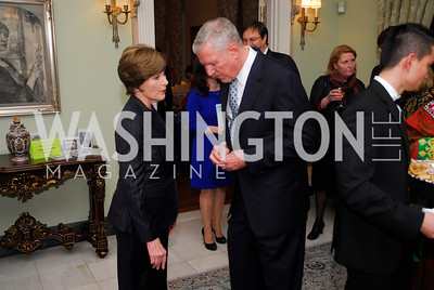 Laura Bush,,Richard Myers, February 24,2012,Aschiana Gala at the Residence of the Ambassador of the Netherlands,Kyle Samperton