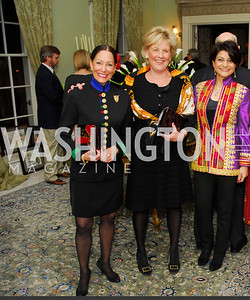 Barbara  Wilson,Leslie Schweitzer,Shamin Jawad,February 24,2012,Aschiana Gala at the Residence of the Ambassador of the Netherlands,Kyle Samperton