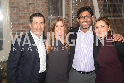 Vali Nasr, Ashley Bommer, Vikram Singh, Darya Nasr,  Ashley Bommer and Vikram Singh celebrate with friends at the home of Vali and Darya Nasr. Photo by Ben Droz.