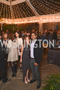 Ashley Bommer and Vikram Singh celebrate with friends at the home of Vali and Darya Nasr. Photo by Ben Droz.