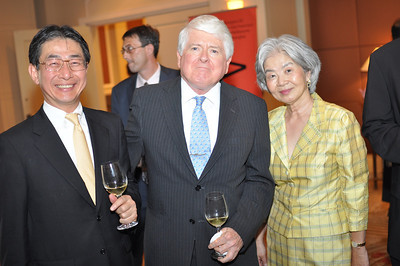 Kenji Yokota, Bob Young, Satsuko Young, Asia Society Awards Dinner, at the Mandarin Oriental, Tuesday, June 19th, 2012.  Photo by Ben Droz