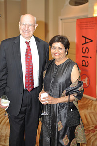 Thomas Pickering, Vishakha Desai, Asia Society Awards Dinner, at the Mandarin Oriental, Tuesday, June 19th, 2012.  Photo by Ben Droz